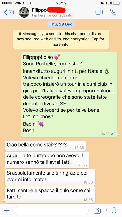Luca Tommassini la risposta di Roshelle