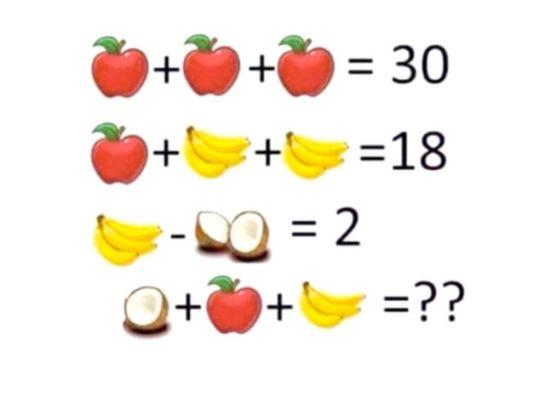 Calcoli con la frutta