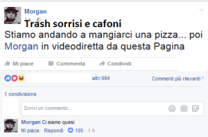 morgan mangia la pizza