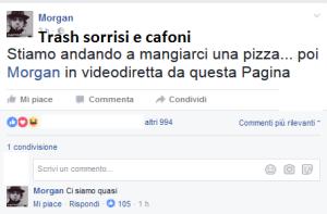 morgan mangia la pizza