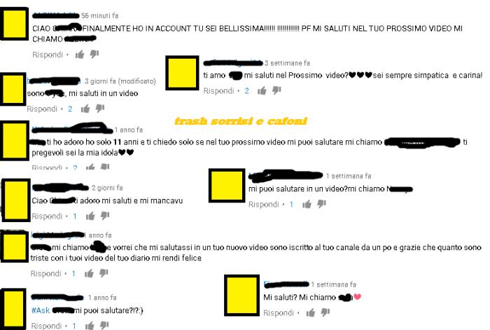 youtube commenti mi saluti