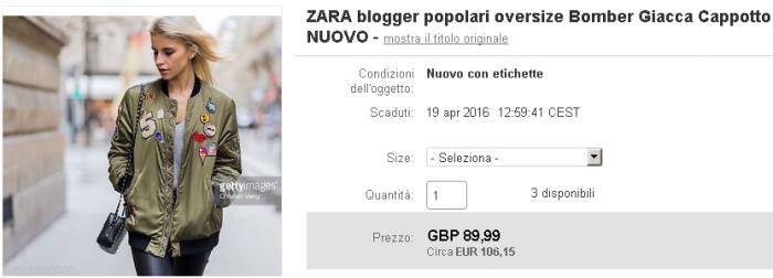 Zara cappotto toppe